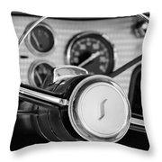 1955 Studebaker President Steering Wheel Emblem Throw Pillow by Jill Reger