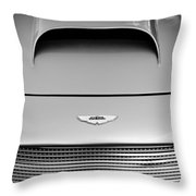 1956 Aston Martin Db 2/4 Mk I Hood Emblem Throw Pillow