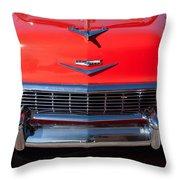 1956 Chevrolet Belair Convertible Custom V8 Throw Pillow