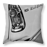 1956 Chevrolet Belair Taillight Emblem Throw Pillow
