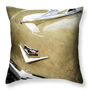 1956 Chevrolet Hood Ornament - Emblem Throw Pillow