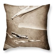 1956 Chevrolet Hood Ornament Throw Pillow