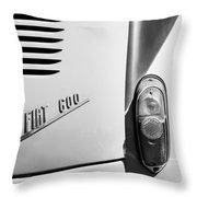 1956 Fiat 600 Taillight Emblem Throw Pillow