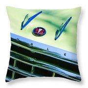 1956 Hudson Rambler Station Wagon Grille Emblem - Hood Ornament Throw Pillow