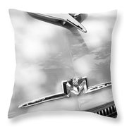 1956 Mercury Monterey Hood Ornament - Emblem Throw Pillow