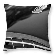 1957 Ac Ace Bristol Roadster Hood Emblem Throw Pillow