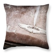 1957 Aston Martin Db2-4 Mkii Emblem Throw Pillow