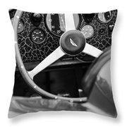 1957 Aston Martin Dbr2 Steering Wheel Throw Pillow by Jill Reger