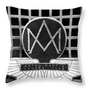 1957 Aston Martin Owner's Club Emblem Throw Pillow by Jill Reger
