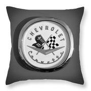 1957 Chevrolet Corvette Emblem Throw Pillow