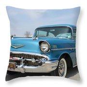 1957 Chevy Bel-air Throw Pillow