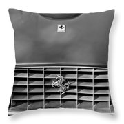 1957 Ferrari 410 Superamerica Coupe Grille Emblem Throw Pillow
