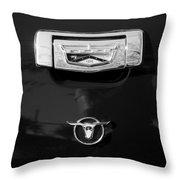 1957 Ford Custom 300 Series Ranchero Emblem Throw Pillow