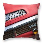 1957 Gmc V8 Pickup Truck Grille Emblem Throw Pillow