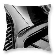 1957 Studebaker Golden Hawk Hardtop Grille Emblem Throw Pillow