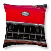 1958 Chevrolet Corvette Grille Throw Pillow