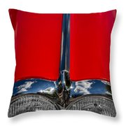 1958 Chevrolet Corvette Headlights Throw Pillow