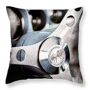 1958 Chevrolet Corvette Steering Wheel Emblem Throw Pillow