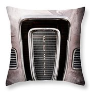 1958 Edsel Pacer Grille Emblem - Hood Ornament Throw Pillow