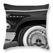 1958 Edsel Pacer Wheel Emblem Throw Pillow