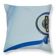 1958 Edsel Ranger Hood Ornament Throw Pillow