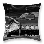 1958 Ferrari 250 Gt Lwb California Spider Steering Wheel Emblem -  Dashboard Throw Pillow