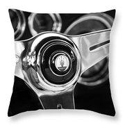 1958 Maserati Steering Wheel Emblem Throw Pillow