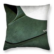 1959 Aston Martin Db4 Gt Hood Emblem Superleggera Throw Pillow