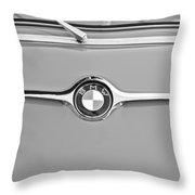 1959 Bmw 600 Isetta Hood Emblem Throw Pillow