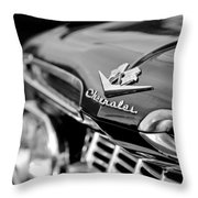 1959 Chevrolet Grille Emblem Throw Pillow