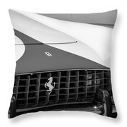 1959 Ferrari 250 Gt Coupe Grille Emblems Throw Pillow