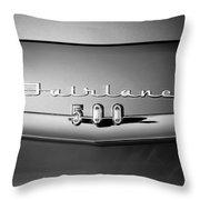1959 Ford Fairlane 500 Emblem Throw Pillow