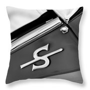 1959 Jaguar Xk150sots Emblem Throw Pillow