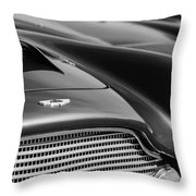 1960 Aston Martin Db4 Series II Grille - Hood Emblem Throw Pillow
