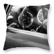 1960 Aston Martin Db4 Series II Steering Wheel Throw Pillow