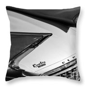 1960 Cadillac Eldorado Taillights Throw Pillow