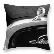 1960 Ford Galaxie Starliner Hood Ornament - Emblem Throw Pillow by Jill Reger
