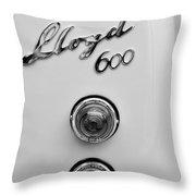 1960 Lloyd 600 Taillight Emblem Throw Pillow