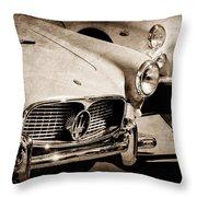 1960 Maserati Grille Emblem Throw Pillow by Jill Reger