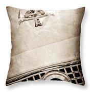 1960 Nash Metropolitan Hood Ornament - Grille Emblem Throw Pillow