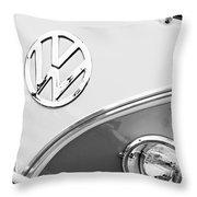 1960 Volkswagen Vw 23 Window Microbus Emblem Throw Pillow by Jill Reger
