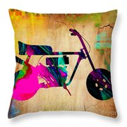 1960's Mini Bike Throw Pillow