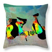 1960s Peace Scooter Throw Pillow