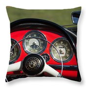 1961 Alfa-romeo Giulietta Spider Steering Wheel Emblem Throw Pillow