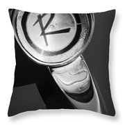 1961 American Rambler Hood Ornament Throw Pillow