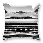 1961 Chevrolet Grille Emblem Throw Pillow