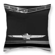 1961 Ford Thunderbird Hood Emblem Throw Pillow