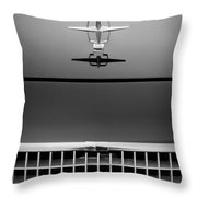 1961 Lincoln Continental Hood Ornament Throw Pillow