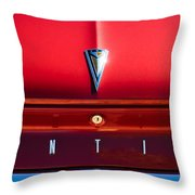 1961 Pontiac Catalina Emblem Throw Pillow