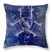 1961 Propeller Patent Drawing Throw Pillow